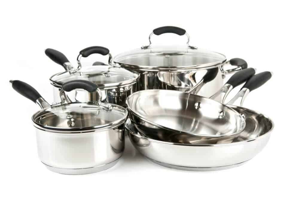 T-FAL 12-Set Stainless Steel Copper Bottom Cookware