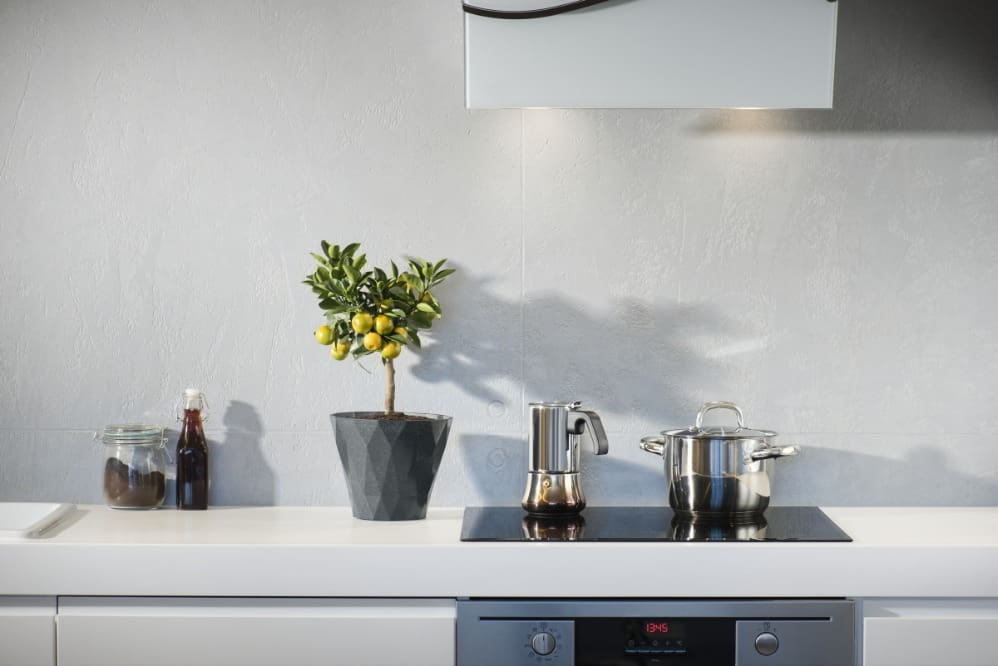 induction cooktop takes up less space