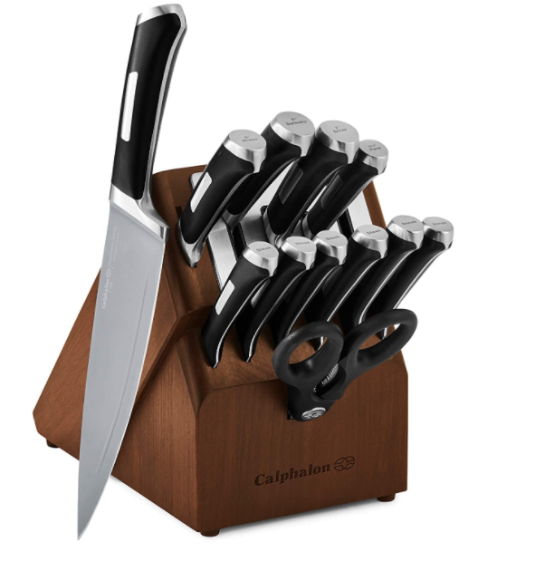 Calphalon Precision 13-piece Kitchen Knife Set with Self-Sharpening Block