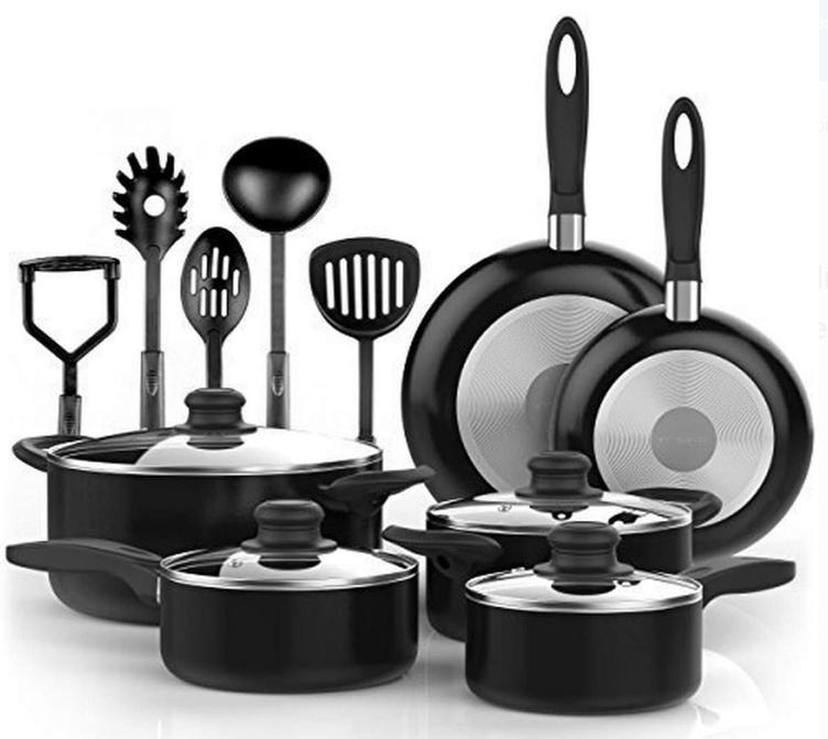 Vremi Nonstick 15-Piece Cookware Set